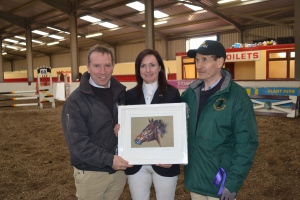 Rosaleen being presented with painting
