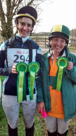 Laura & Liz with their rosettes