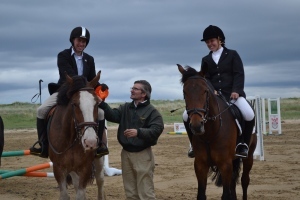 Ryan claiming his 5th place rosette